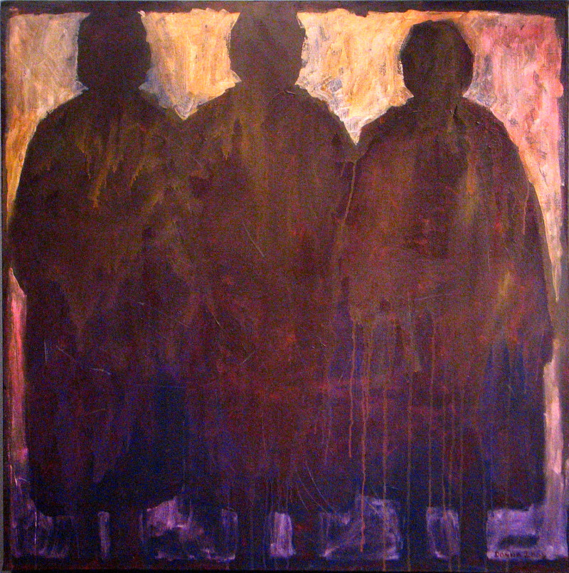 "<p>Donna Loos (Little Shell), <span class=""italic"">Three Sisters</span>, acrylic on canvas, 2001, copyright the artist.</p>"